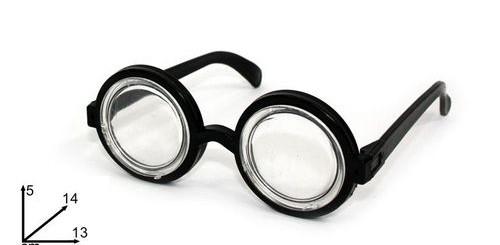 lunette effet loupe